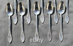 10 CUILLERES A CAFE ARGENT MASSIF MINERVE ART NOUVEAU (silver coffee spoons)