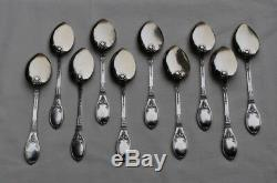 10 CUILLERES A GLACE EN ARGENT MASSIF VERMEIL EMPIRE Sterling Silver Ice Cream