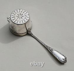 12 CUILLERES A THE / CAFE & PASSE THE EN ARGENT MASSIF VERMEIL Sterling Silver