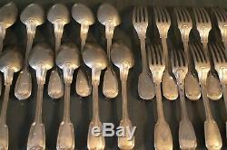 12 fourchettes 12 cuillères argent massif 19e poinçon Minerve silver fork spoon