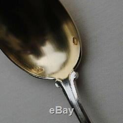 18 CUILLERES A CAFE EN ARGENT MASSIF VERMEIL ART NOUVEAU FLEURS Sterling Silver