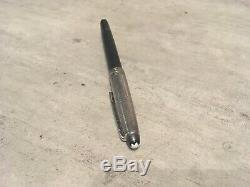 1 stylo Feutre Montblanc Solitaire Doué silver Barley argent Massif AG 925