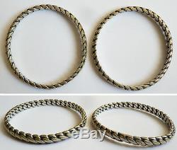 2 Anciens Bracelet en argent massif silver bracelet 57 gr ethnique