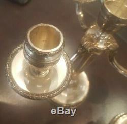 2 Chandeliers Argent Signés Emile Puiforcat Paris 2 antics silver candelabras