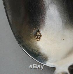 4 CUILLERES A CAFE EN ARGENT MASSIF RENAISSANCE MASCARONS Sterling Silver Spoons