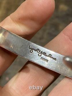 Ancien Bracelet Jonc En Argent Massif Silver 925 Créateur Lynol Yellowhorse