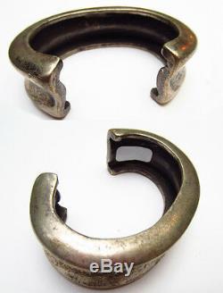 Ancien Bracelet argent massif Timor Indonésie 19e Antique Silver Anklets