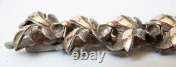 Ancien Bracelet articulé en ARGENT massif et vermeil silver vers 1910