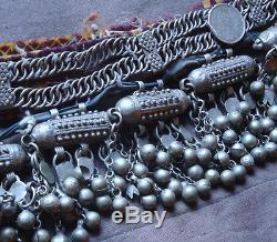 Ancien Collier Maroc Argent Ethnique Tribal Yemen 256g Antique Silver Necklace