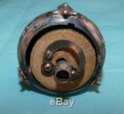 Ancien Interrupteur Poussoir Type Sonnette En Argent Massif 800°. Silver Switch