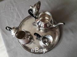 Ancien Service à thé en Argent Massif Silver 800, 1181g
