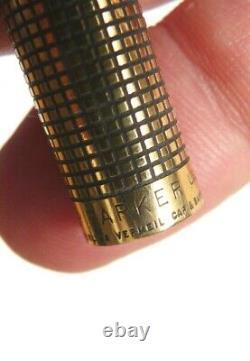 Ancien Stylo feutre PARKER en vermeil argent massif silver pen
