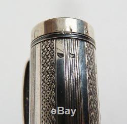 Ancien Stylo-plume UNIC en ARGENT massif Plume en OR sterling silver pen