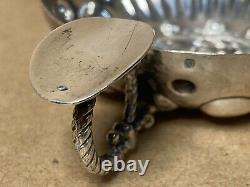 Ancien Tastevin Argent Massif Minerve Décor Sirène Sterling Silver, 90 Gr
