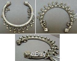 Ancien bracelet en argent massif ethnique Maghreb silver bracelet 94gr
