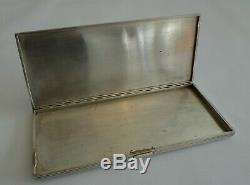 Ancien briquet & Etui cigarette argent massif Art Deco silver petrol lighter box