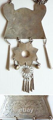 Ancien collier ethnique argent massif Vietnam Indochine Chine silver necklace