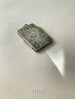 Ancien couteau de poche pliant sterling silver argent massif Japan pocher knife