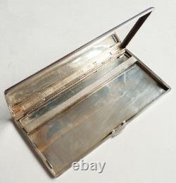 Ancien étui à cigarettes en ARGENT massif ART DECO vers 1930 silver