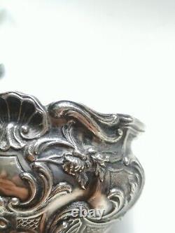 Ancien salerons argent massif sterling silver poinçon minerve La Doucette XIX°