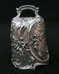 Ancienne Cloche Clochette De Table En Argent Massif Antique Silver Table Bell