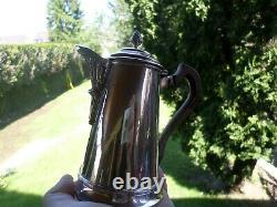 Ancienne Verseuse Cafetiere-égoïste-poinçon Minerve-Argent Massif-silver
