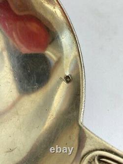 Ancienne louche de service argent massif sterling silver poinçon minerve H&C