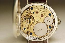 Ancienne montre A LANGE & SÖHNE 36mm ARGENT 1910 vintage SILVER watch