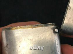Antique Box Enamel Silver TIFFANY & CO Pyrogène Boîte Allumettes Argent Massif