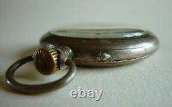 Antique IWC Schaffhausen pocket watch case 50 mm silver 800 Swiss made 1908/1915