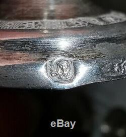 Antique Islamique Persian Perse Qajar Argent Massif Silver Ispahan 1006 Gm