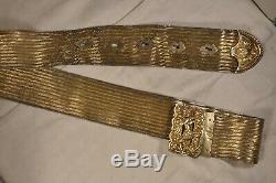 Antique Solid Silver Ottoman Wedding Belt Ceinture Argent Massif Ancien 543g