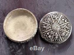 Argent Massif Chine Belle Boite Chinese Export Silver Box