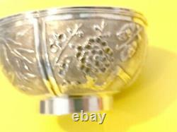 Argent Massif Chinese Export Silver Bowl Chine