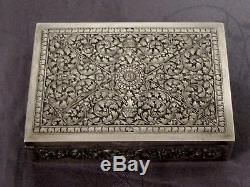 Argent Massif Indochine Cambodge Tres Belle Boite Coffret Chinese Silver