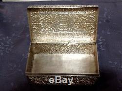 Argent Massif Indochine Chine Du Sud Boite Chinese Export Silver Box 402 G