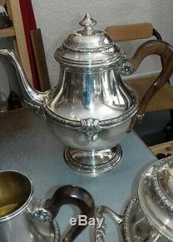 Argent massif, service à thé, minerve, guyot & brulé, G&B, XIXème, 19th, silver