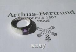 Arthus BERTRAND bague Tank améthyste Argent massif 925 French Silver ring
