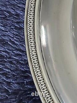 Assiette Empire, Poinçon Vieillard fin XVIII ème, Argent massif, Solid silver