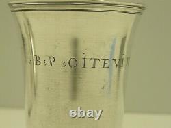 BELLE TIMBALE sur piedouche en ARGENT MASSIF XVIIIe FERMIERS GENERAUX SILVER CUP