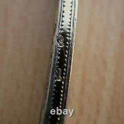 BIENNAIS Rare brosse à dents Empire en vermeil argent Silver gilt toothbrush