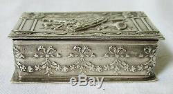 BOÎTE A PILULES ARGENT MASSIF Fin 19ème siècle antique pill box solid silver