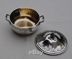 BOUILLON COUVERT EN ARGENT MASSIF VERMEIL LOUIS XV Sterling Silver Covered Bowl