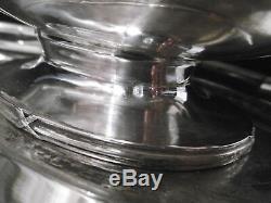 BOULENGER Saucière en ARGENT MASSIF sur présentoir 620 Grammes Minerve / Silver