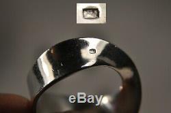 Bague Vintage Argent Massif Georg Jensen Solid Silver Bigned Ring
