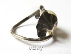 Bague anneau argent massif signé DUMONT silver ring Art Nouveau 1900