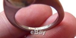 Bague en argent massif LALIQUE Paris France silver ring