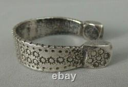 Beau bracelet argent massif marocain Maroc antique solid silver moroccan bangle