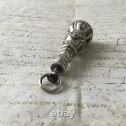 Bijou Ancien XVIIIè Rare Pendentif en Argent Améthyste Perle Silver Jewel 18thC