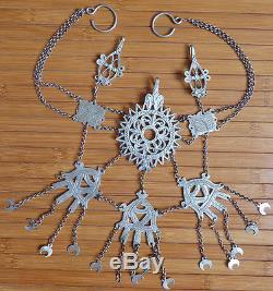 Bijou de tête argent massif Minerve silver 19e s region des Aurès silver jewel